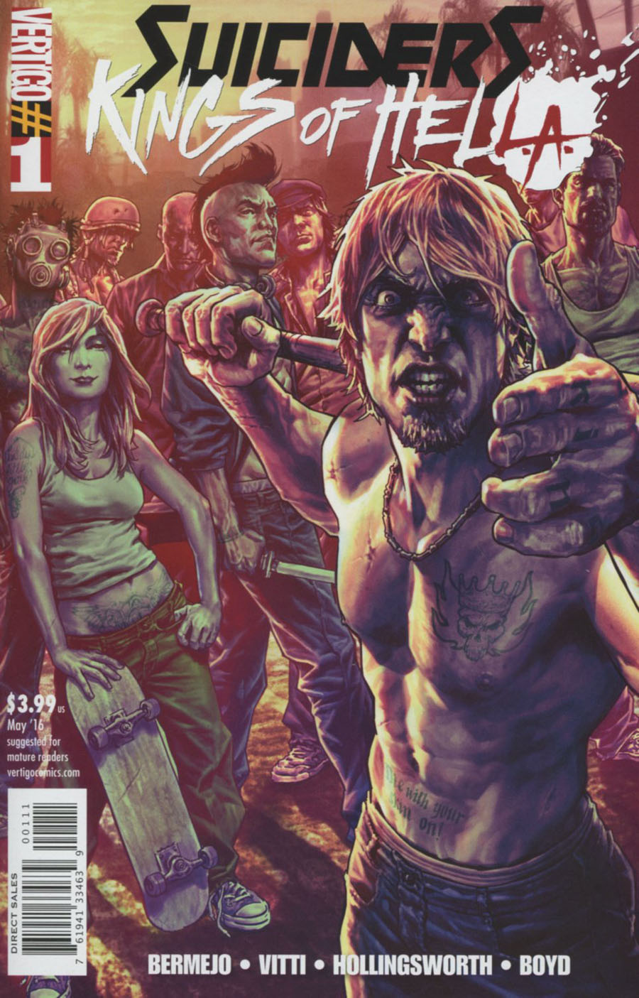 Suiciders Kings Of HelL.A. #1 Cover A Regular Lee Bermejo Cover
