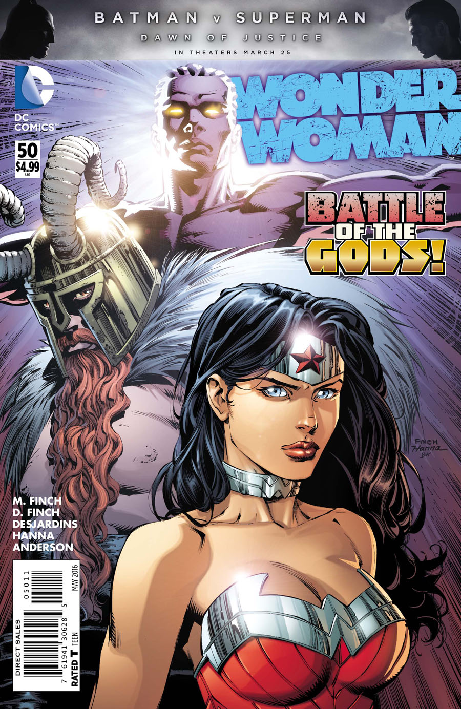 Wonder Woman Vol 4 #50 Cover A Regular David Finch Cover