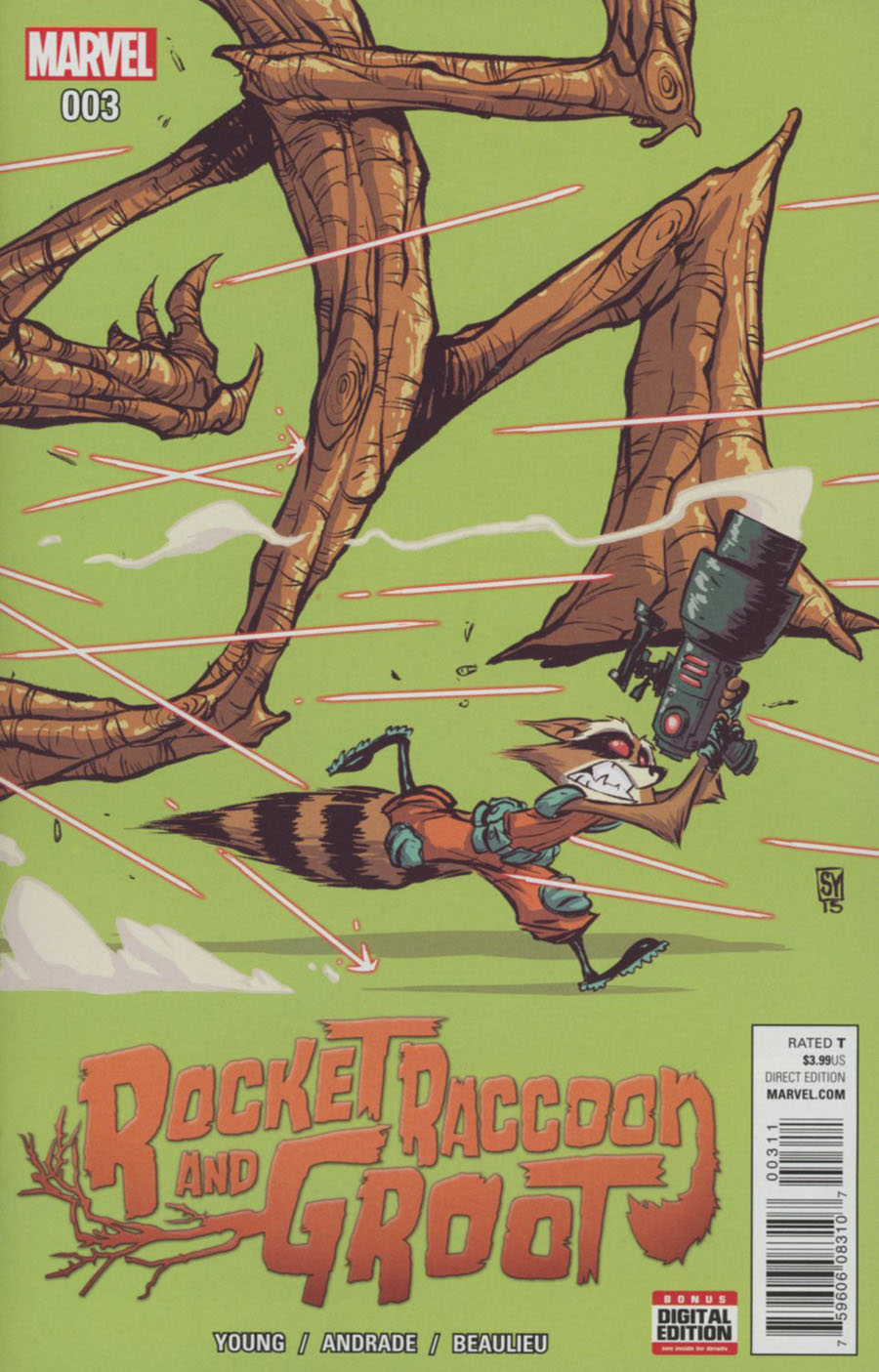 Rocket Raccoon And Groot #3 Cover A Regular Skottie Young Cover