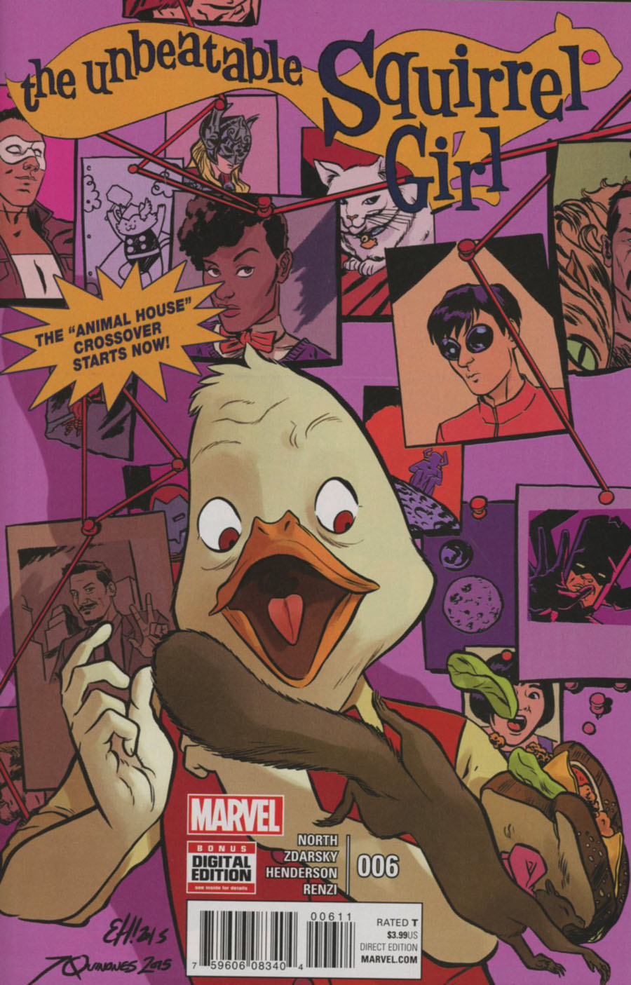 Unbeatable Squirrel Girl Vol 2 #6 Cover A Regular Erica Henderson & Joe Quinones Cover (Animal House Part 1)
