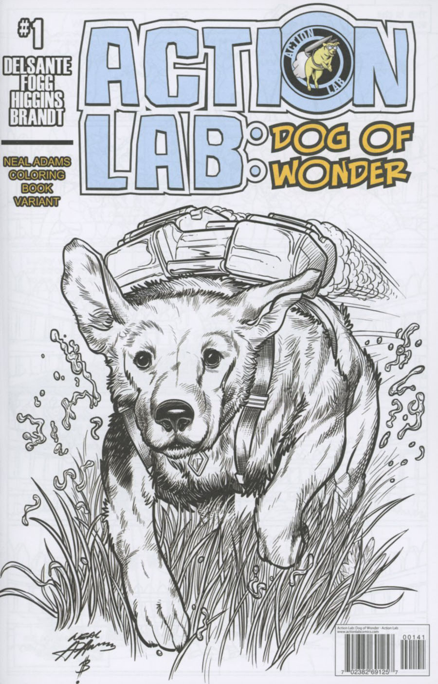 Action Lab Dog Of Wonder #1 Cover C Variant Neal Adams Coloring Book Cover