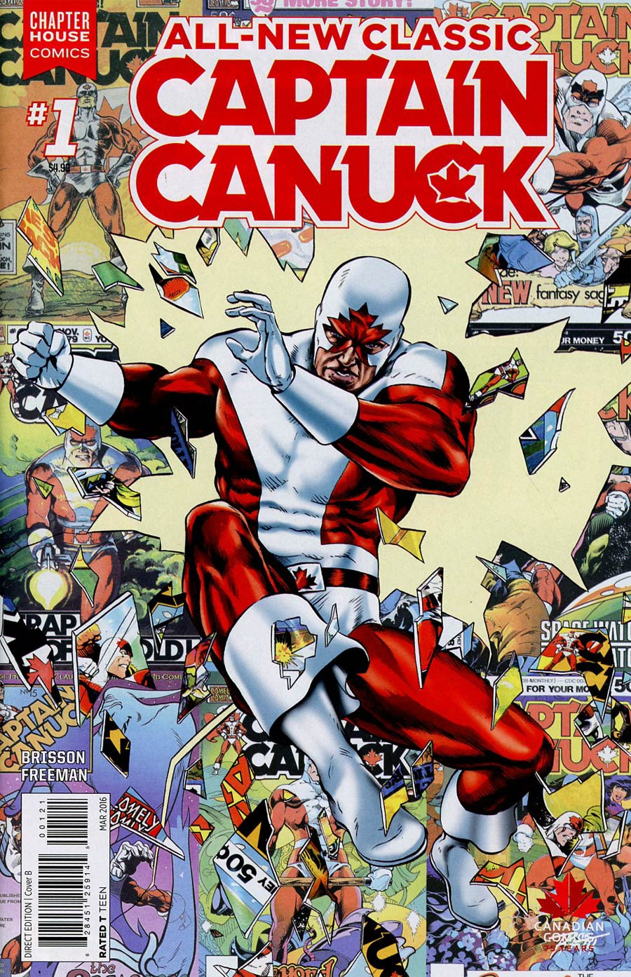 All-New Classic Captain Canuck #1 Cover B Variant Michael Rooth Cover
