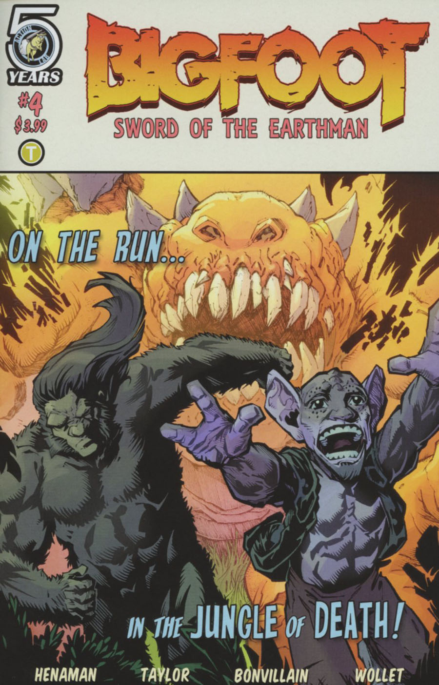 Bigfoot Sword Of The Earthman #4 Cover A Regular Andy Taylor & Tamra Bonvillain Cover