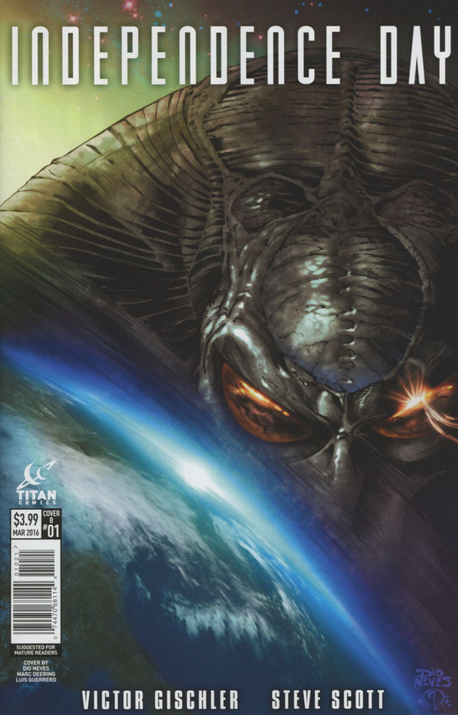 Independence Day #1 Cover B Variant Dio Neves Subscription Cover