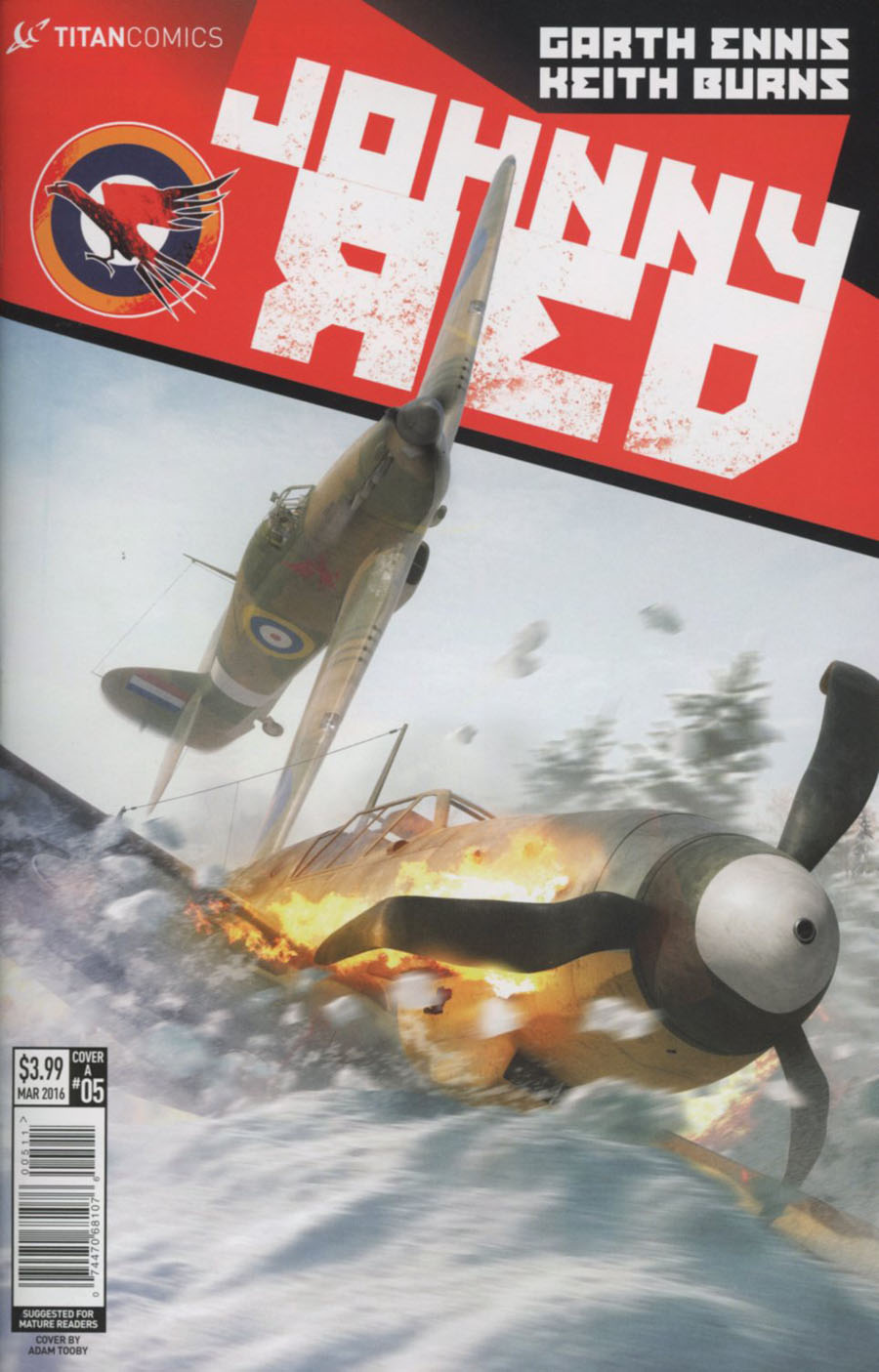 Johnny Red #5 Cover A Regular Keith Burns Cover