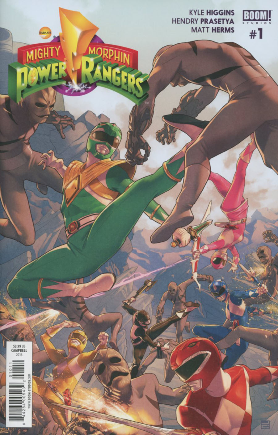 Mighty Morphin Power Rangers (BOOM Studios) #1 Cover A Regular Jamal Campbell Cover