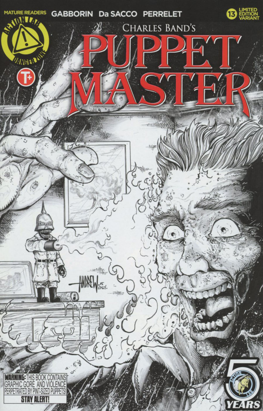 Puppet Master #13 Cover C Variant Andrew Mangum Kill Sketch Cover