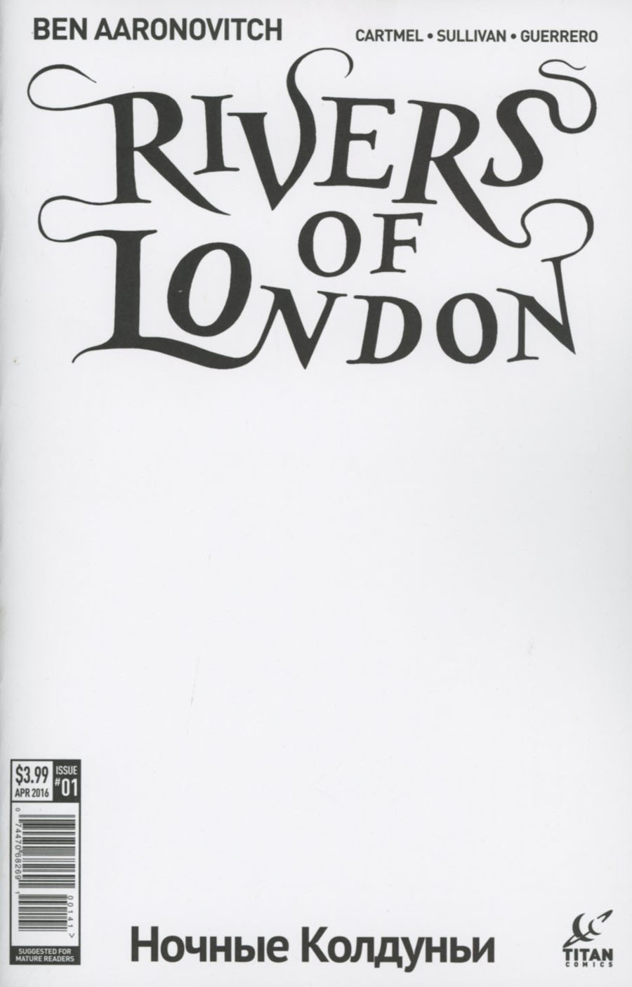 Rivers Of London Night Witch #1 Cover D Variant Blank Cover