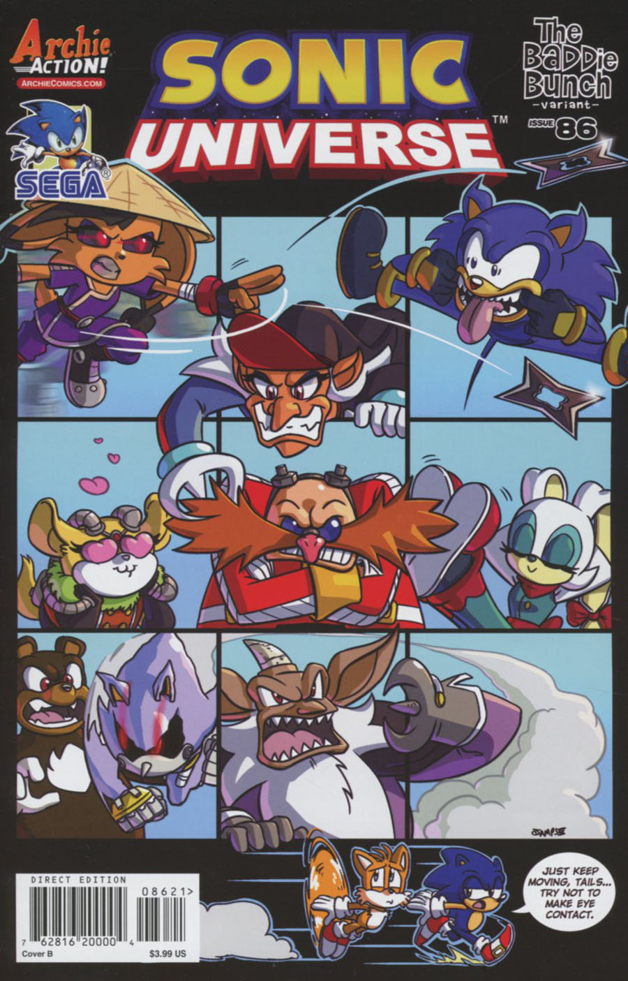 Sonic Universe #86 Cover B Variant Ryan Jampole Brady Bunch Cover