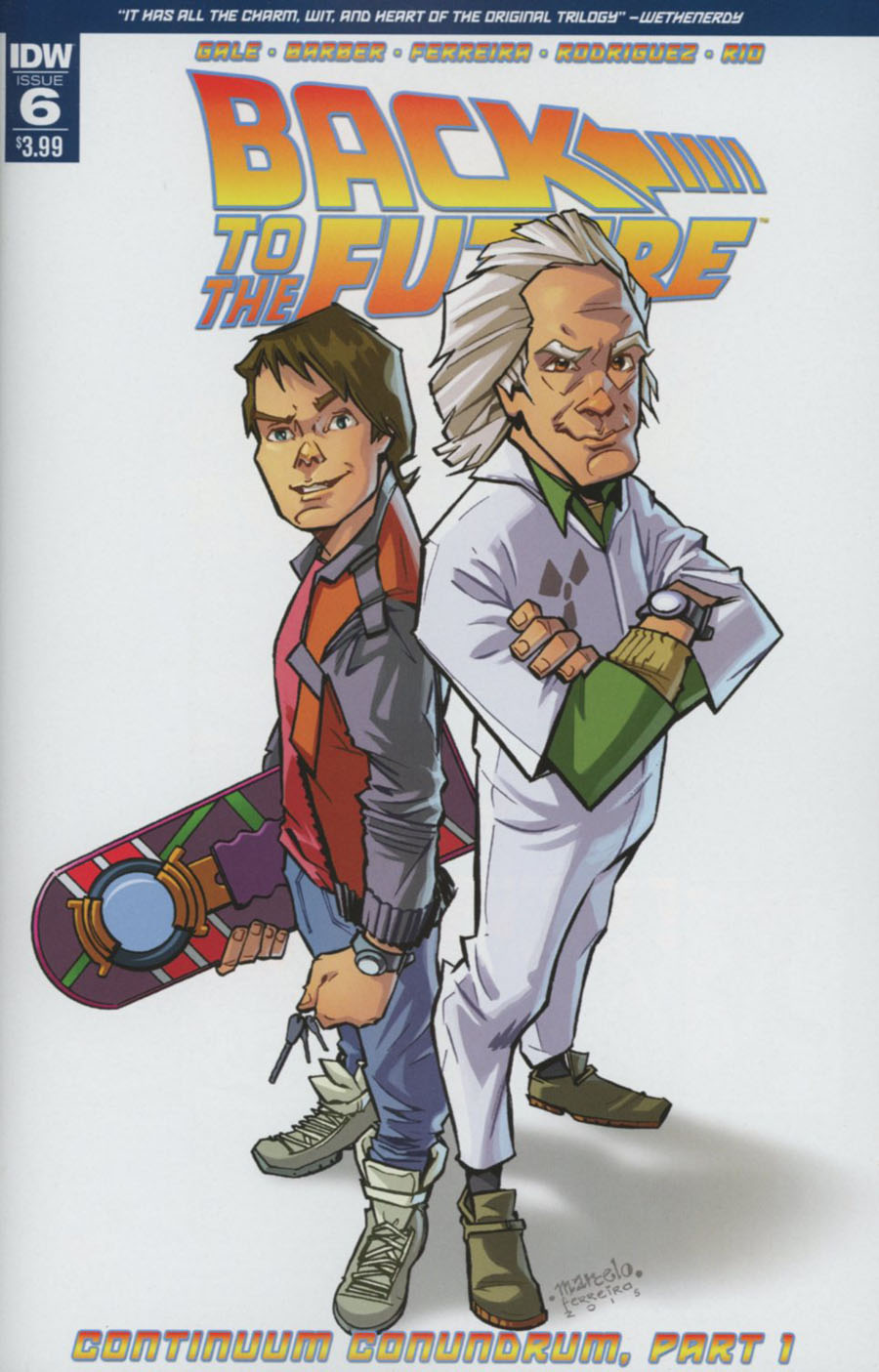 Back To The Future Vol 2 #6 Cover A Regular Marcelo Ferreira Cover