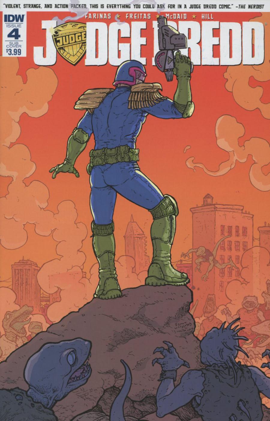 Judge Dredd Vol 5 #4 Cover B Variant Ramon Villalobos Subscription Cover