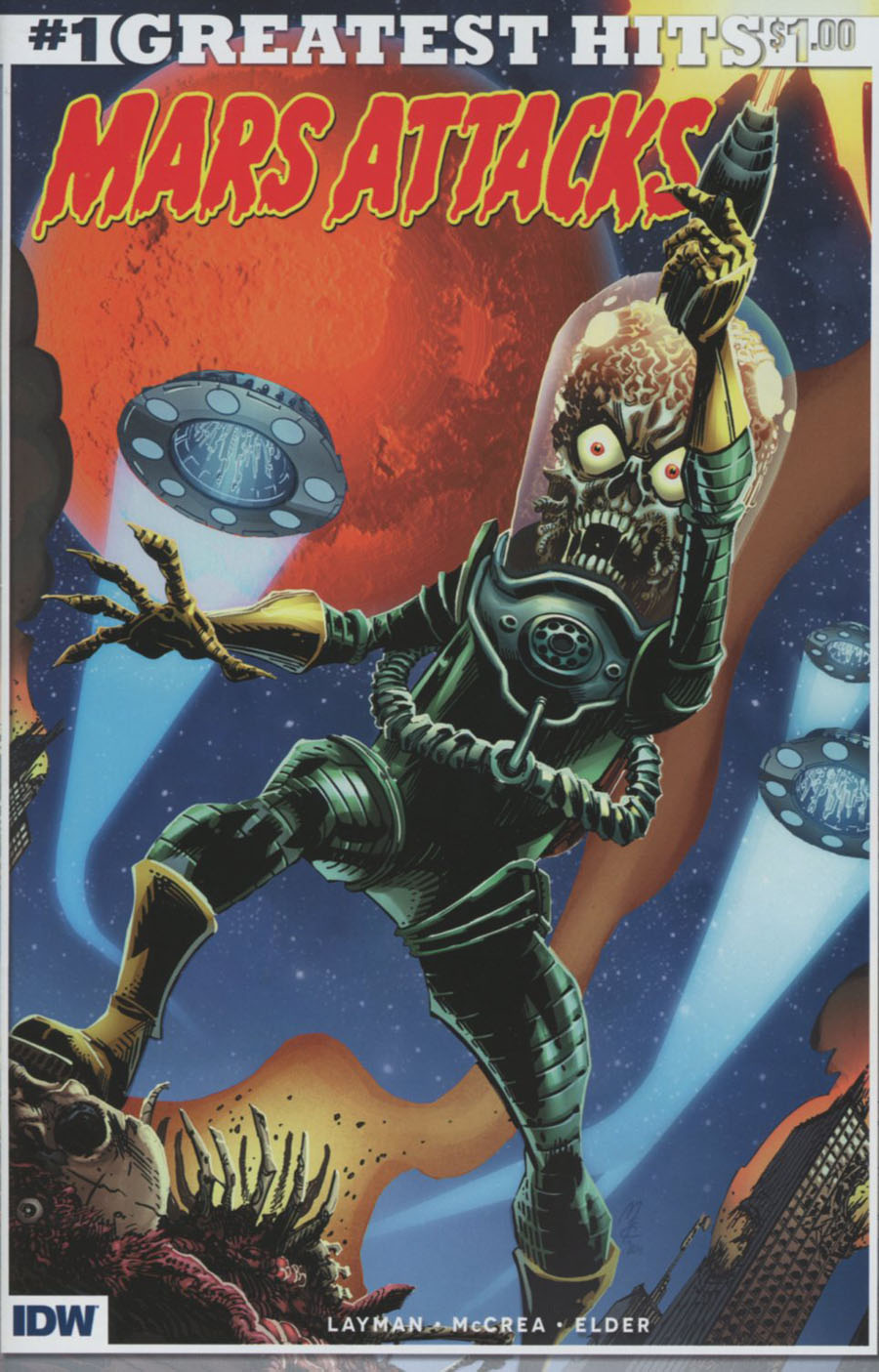 Mars Attacks Vol 3 #1 Cover Z-Z-H IDWs Greatest Hits