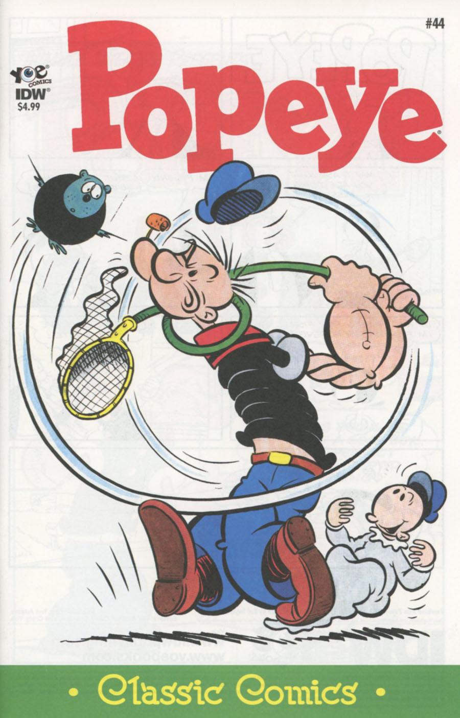 Classic Popeye #44 Cover A Regular Bud Sagendorf Cover