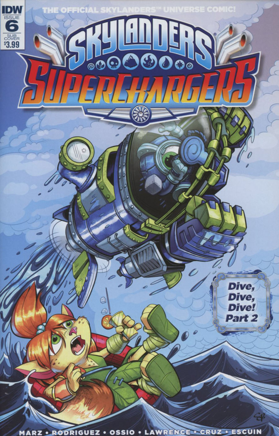 Skylanders Superchargers #6 Cover B Variant Scott Ball Subscription Cover