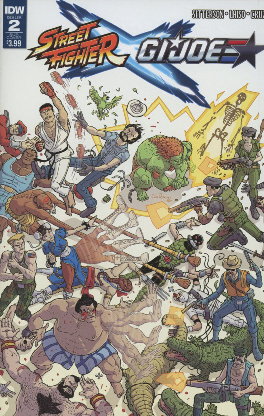 Street Fighter x GI Joe #2 Cover B Variant Nick Pitarra Subscription Cover