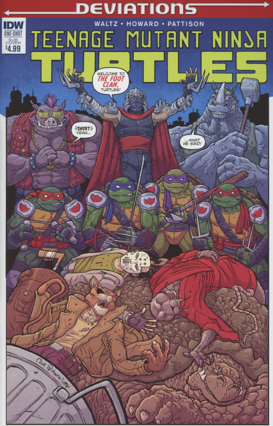 Teenage Mutant Ninja Turtles Deviations One Shot Cover B Variant Nick Pitarra Subscription Cover