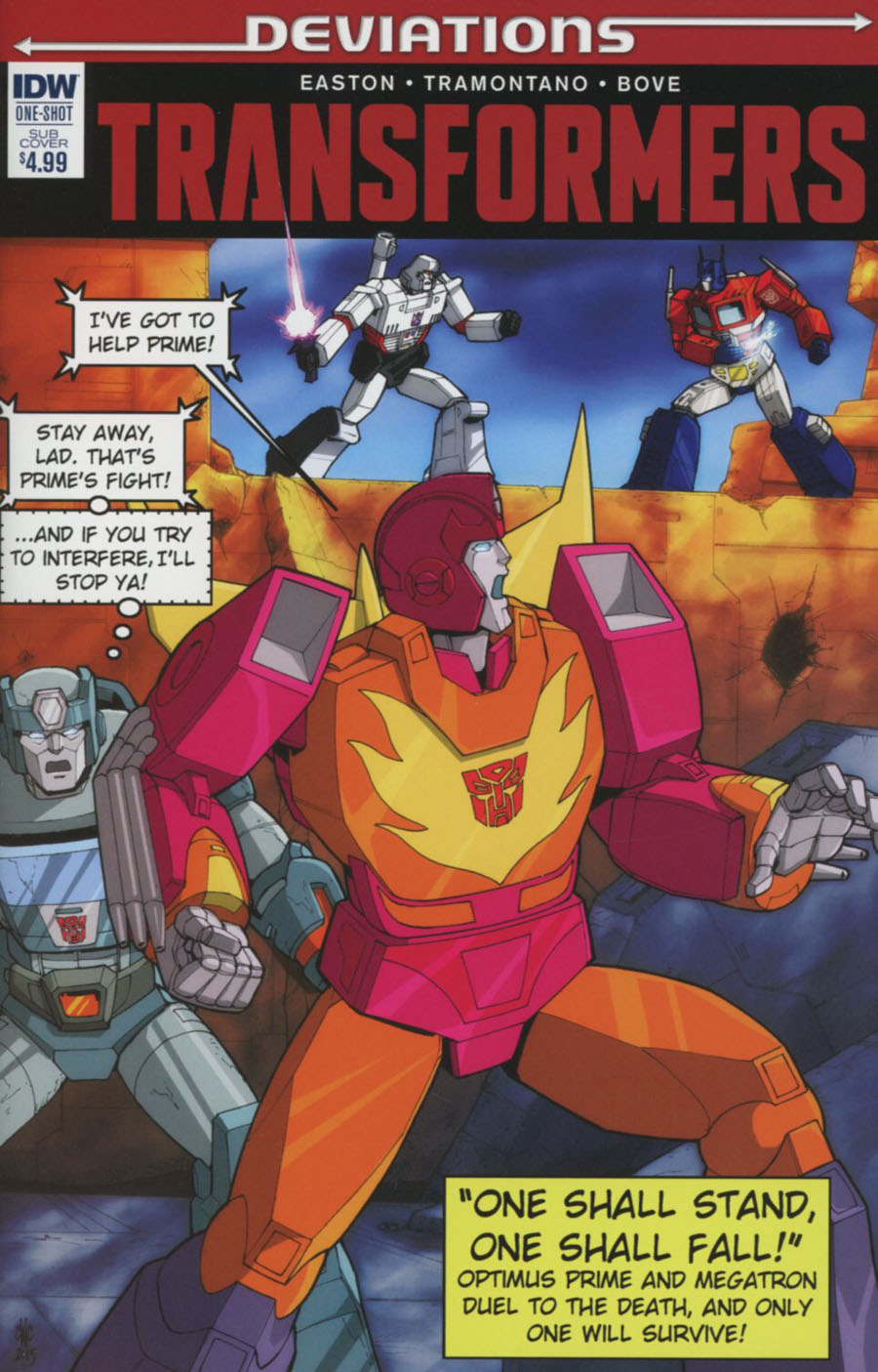 Transformers Deviations One Shot Cover B Variant Casey W Coller Subscription Cover