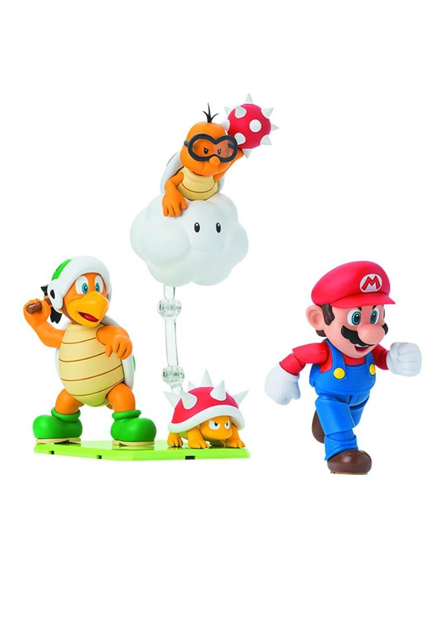 Super Mario S. H. Figuarts - Diorama Play Set E - Hammer Bros / Lakitu / Spiny
