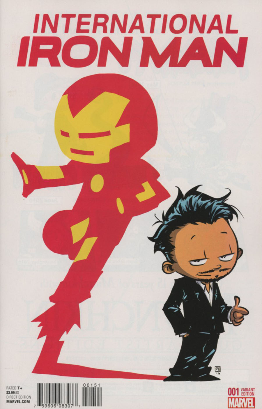 International Iron Man #1 Cover D Variant Skottie Young Baby Cover