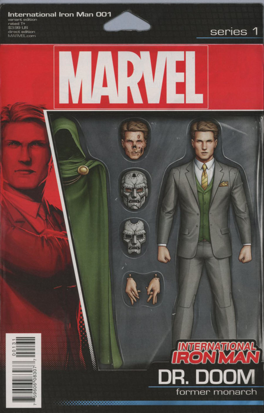 International Iron Man #1 Cover C Variant John Tyler Christopher Action Figure Cover
