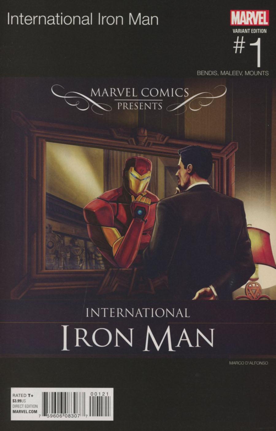 International Iron Man #1 Cover B Variant Macro DAlfonso Marvel Hip-Hop Cover