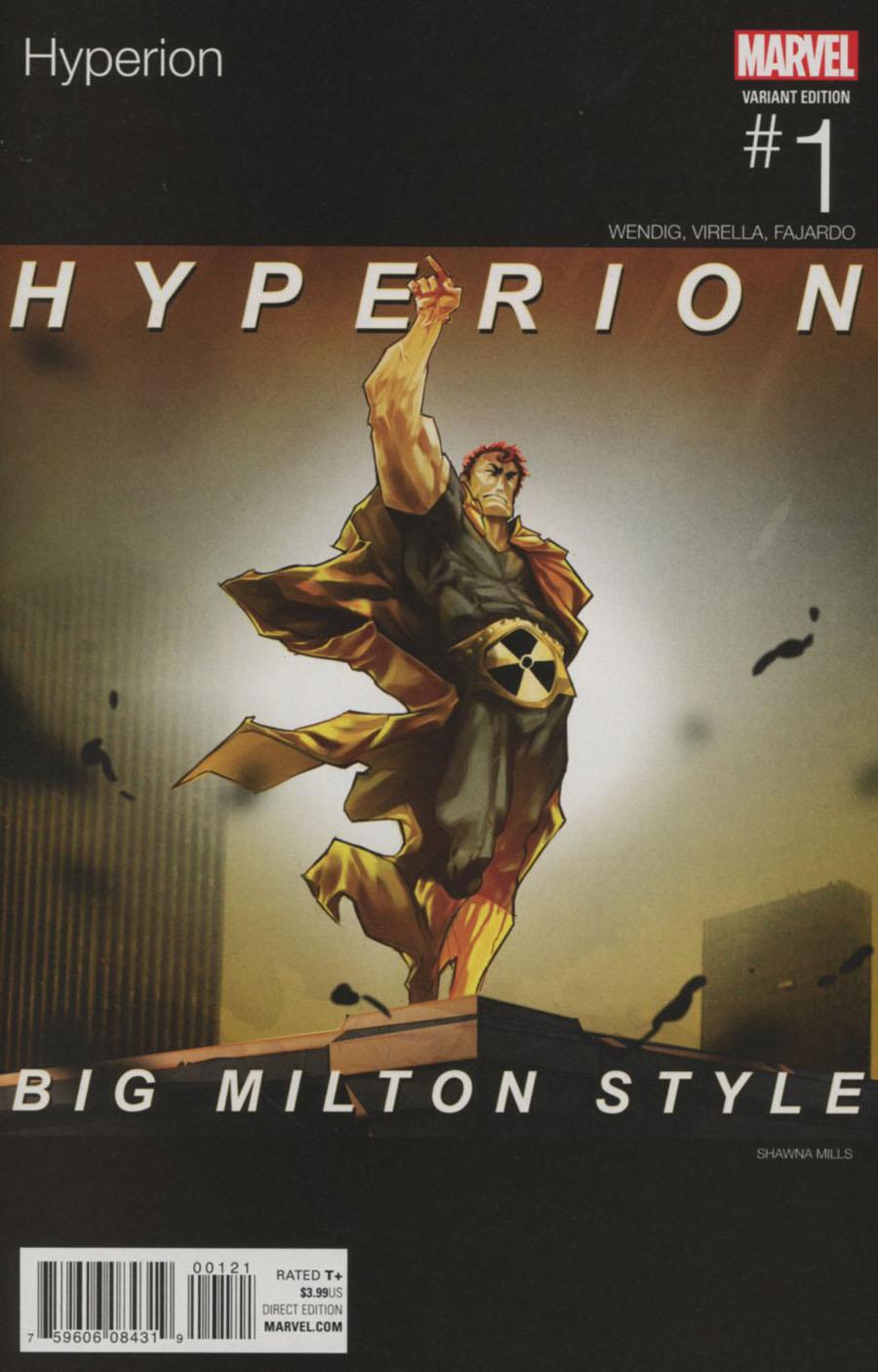 Hyperion #1 Cover B Variant Shawna Mills Marvel Hip-Hop Cover