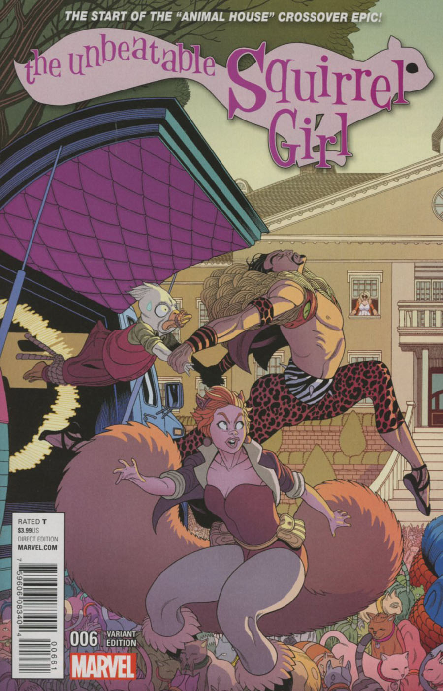 Unbeatable Squirrel Girl Vol 2 #6 Cover C Variant Tradd Moore Connecting A Cover (Animal House Part 1)