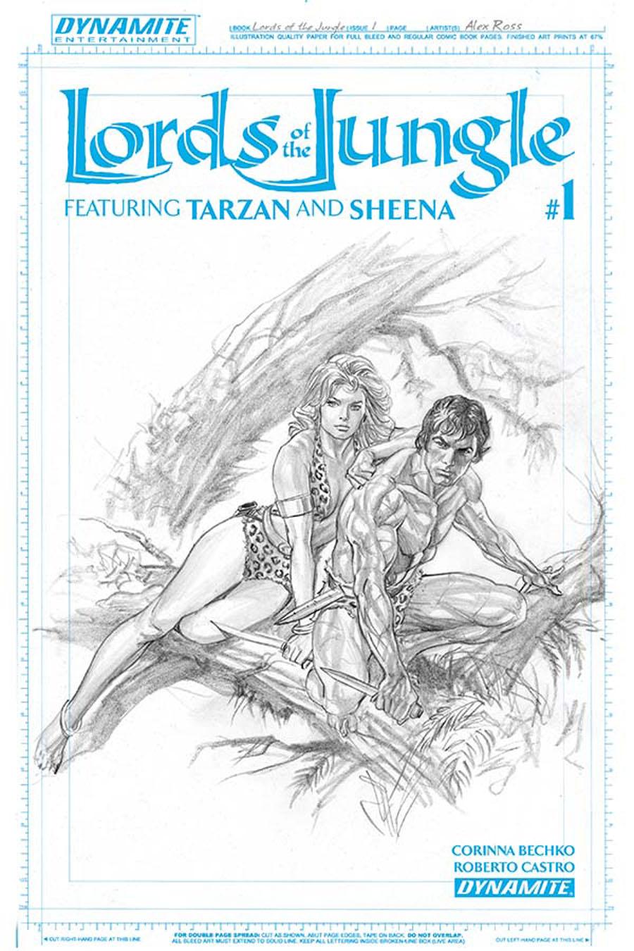 Lords Of The Jungle #1 Cover E Incentive Alex Ross Artboard Cover