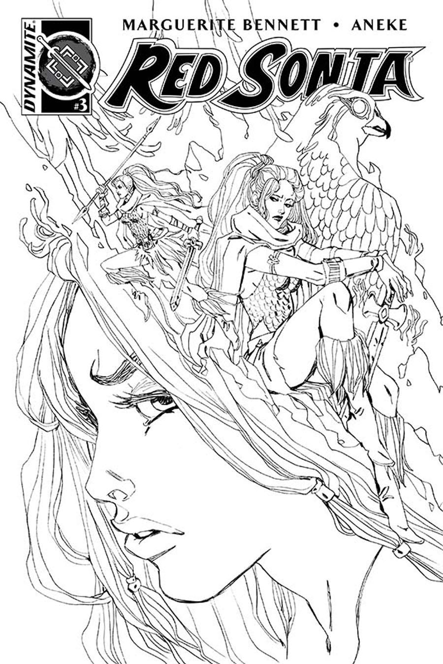 Red Sonja Vol 6 #3 Cover B Incentive Marguerite Sauvage Black & White Cover