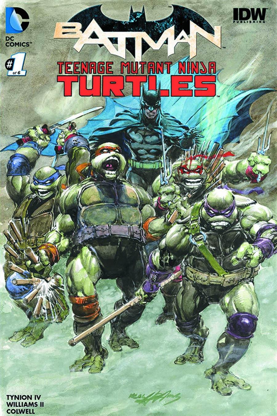 Batman Teenage Mutant Ninja Turtles #1 Cover H DF Exclusive Neal Adams Color Variant Cover CGC Graded