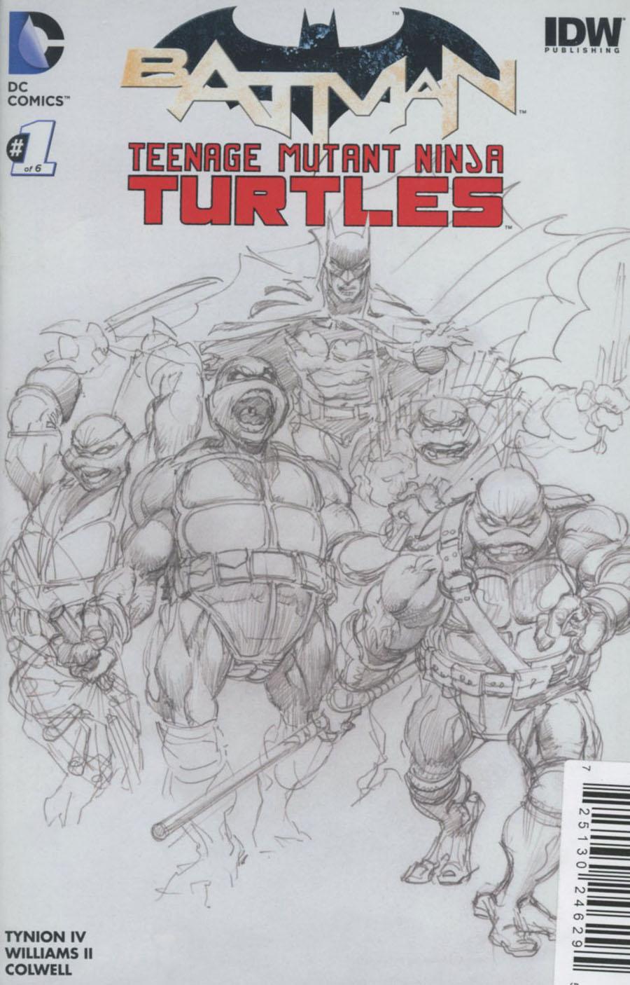 Batman Teenage Mutant Ninja Turtles #1 Cover L DF Exclusive Neal Adams Black & White Variant Cover Plus 3