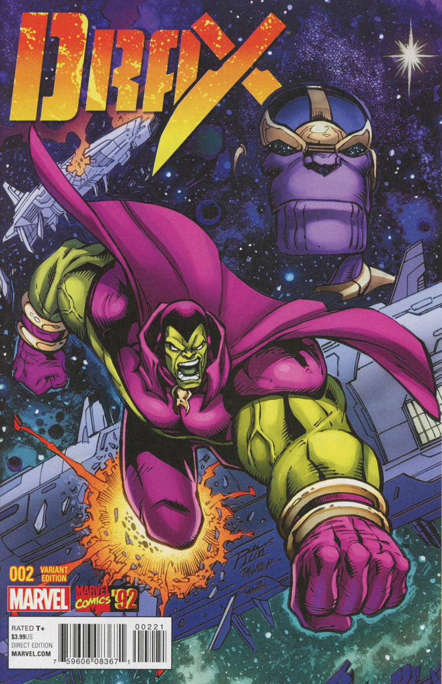 Drax #2 Cover B Incentive Ron Lim Marvel 92 Variant Cover