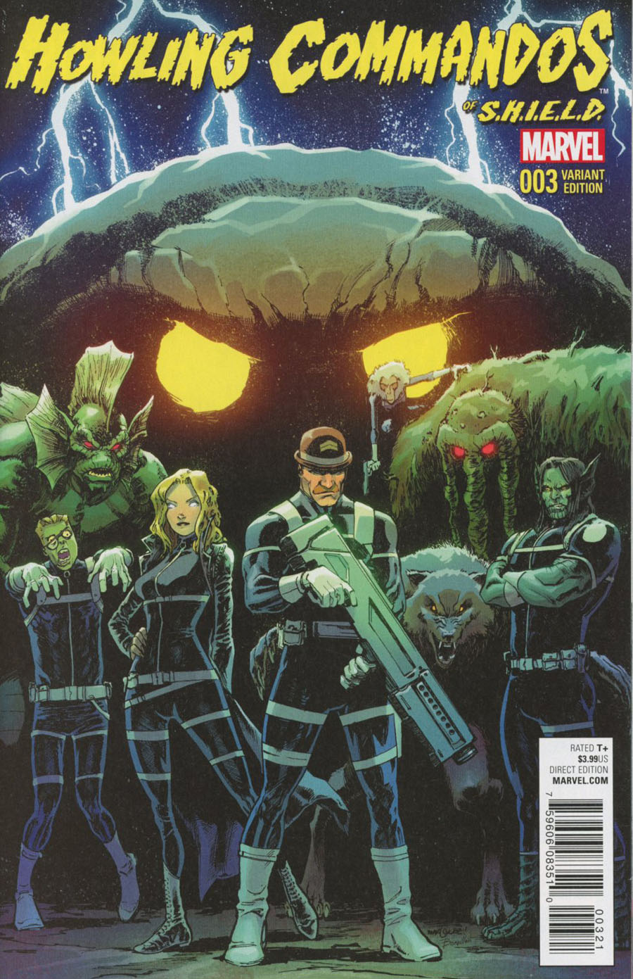 Howling Commandos Of S.H.I.E.L.D. #3 Cover B Incentive David Marquez Variant Cover