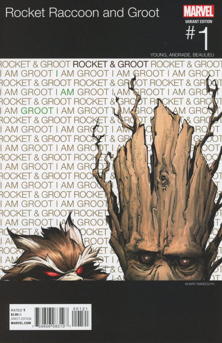 Rocket Raccoon And Groot #1 Cover B Variant Khary Randolph Marvel Hip-Hop Cover