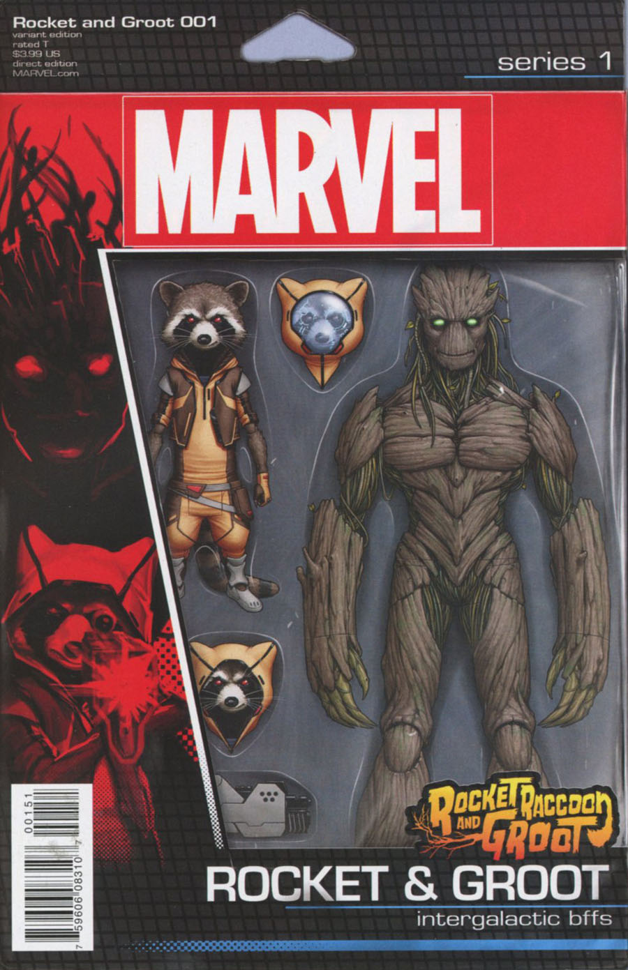 Rocket Raccoon And Groot #1 Cover C Variant John Tyler Christopher Action Figure Cover