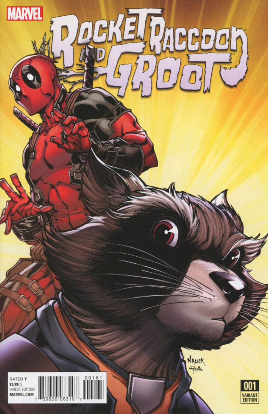 Rocket Raccoon And Groot #1 Cover D Incentive Todd Nauck Deadpool Variant Cover