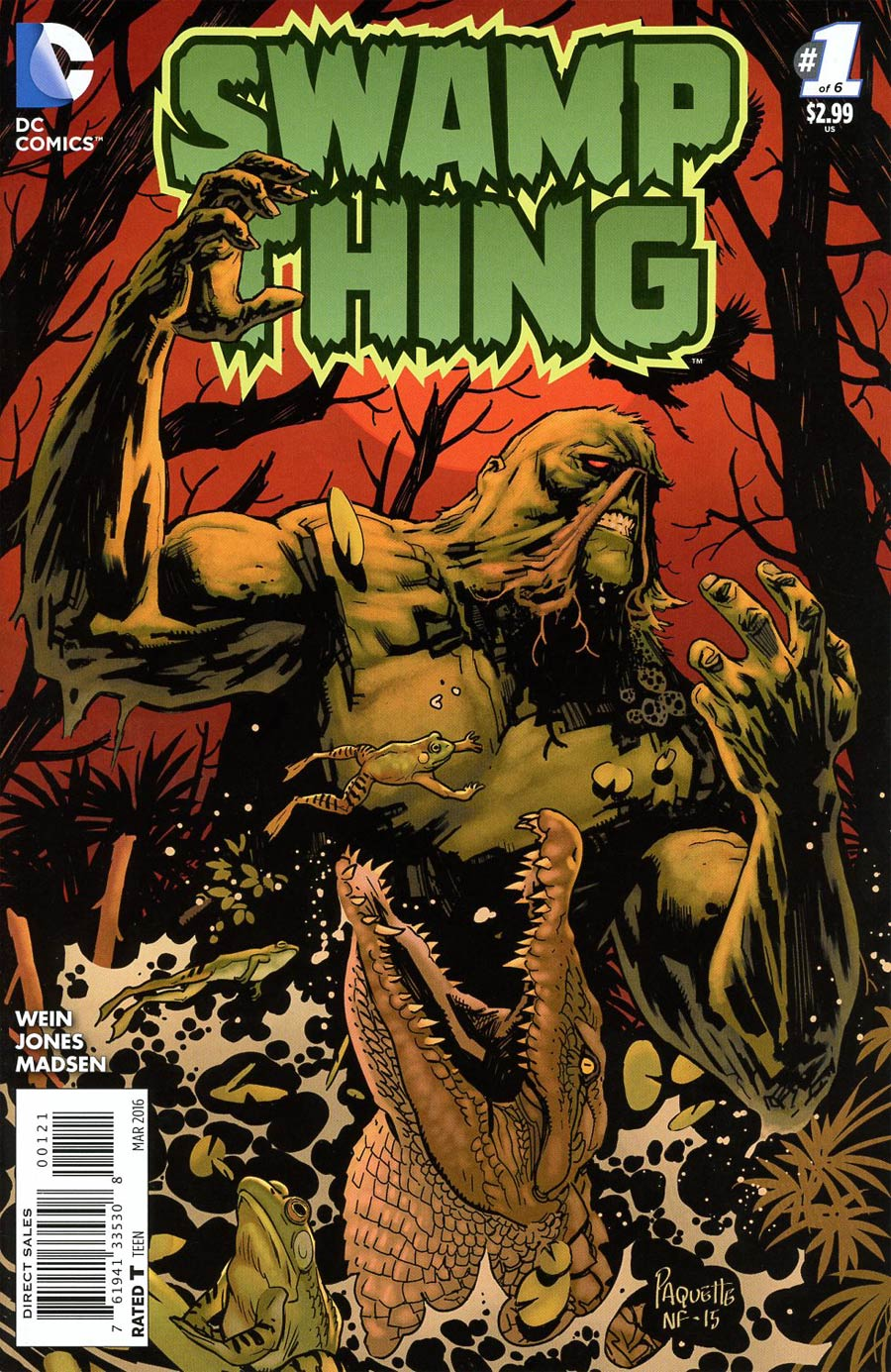 Swamp Thing Vol 6 #1 Cover B Incentive Yanick Paquette Variant Cover