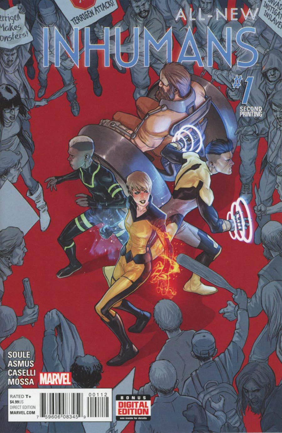 All-New Inhumans #1 Cover G 2nd Ptg Stefano Caselli Variant Cover
