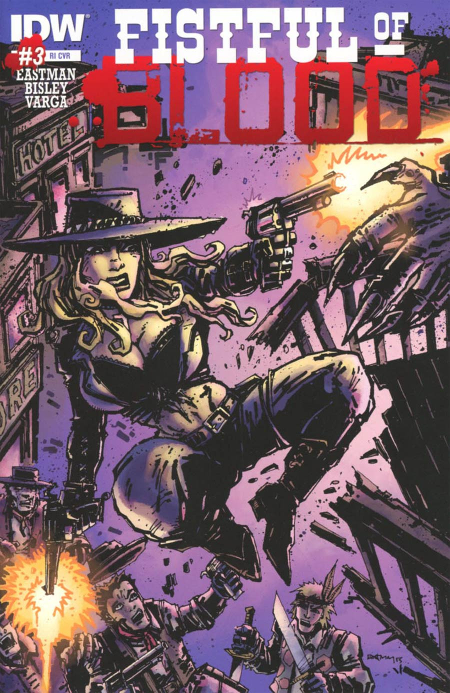 Fistful Of Blood #3 Cover C Incentive Kevin Eastman Variant Cover