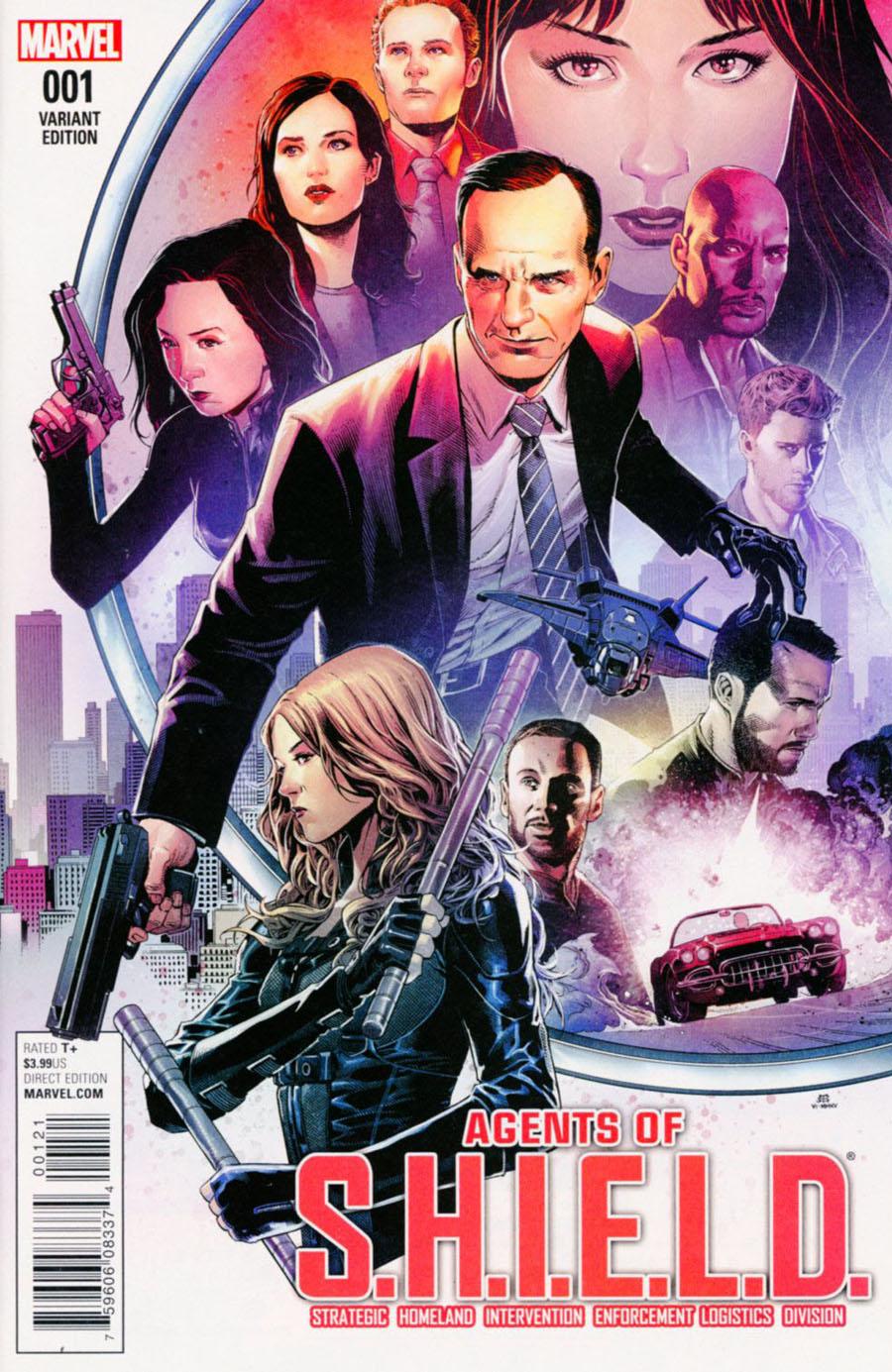 Agents Of S.H.I.E.L.D. #1 Cover E Incentive Jim Cheung Marvels Agents Of S.H.I.E.L.D. Variant Cover