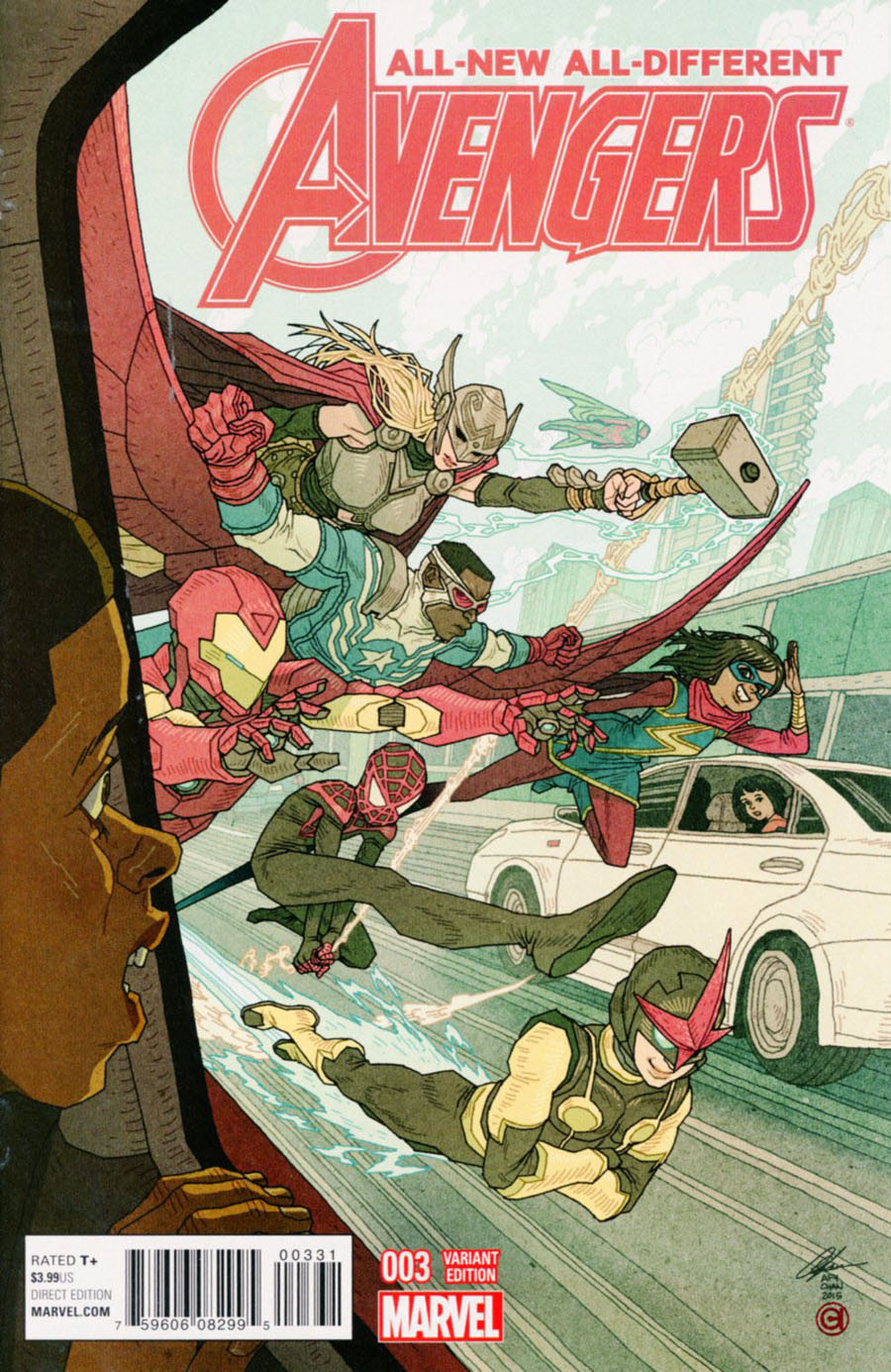 All-New All-Different Avengers #3 Cover C Incentive Afu Chan Variant Cover