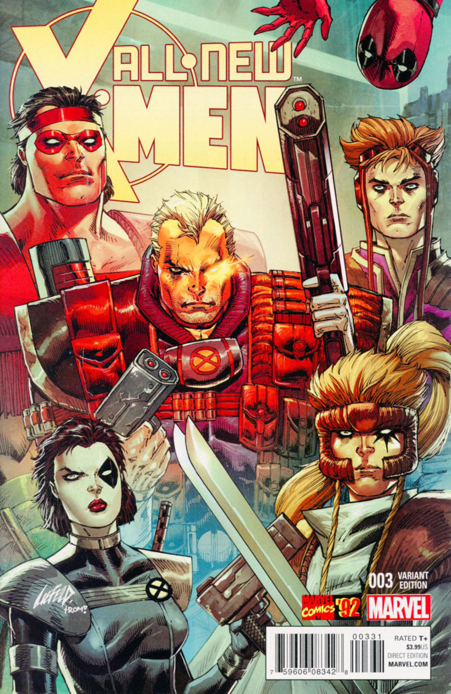 All-New X-Men Vol 2 #3 Cover B Incentive Rob Liefeld Marvel 92 Variant Cover