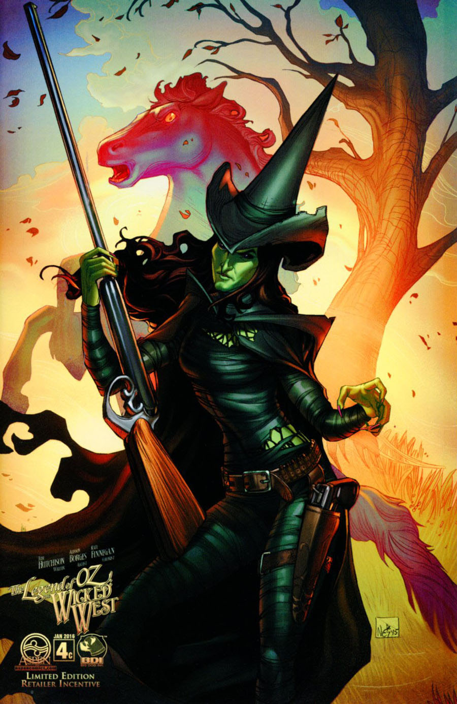 Legend Of Oz The Wicked West Vol 3 #4 Cover C Incentive Nei Ruffino Variant Cover