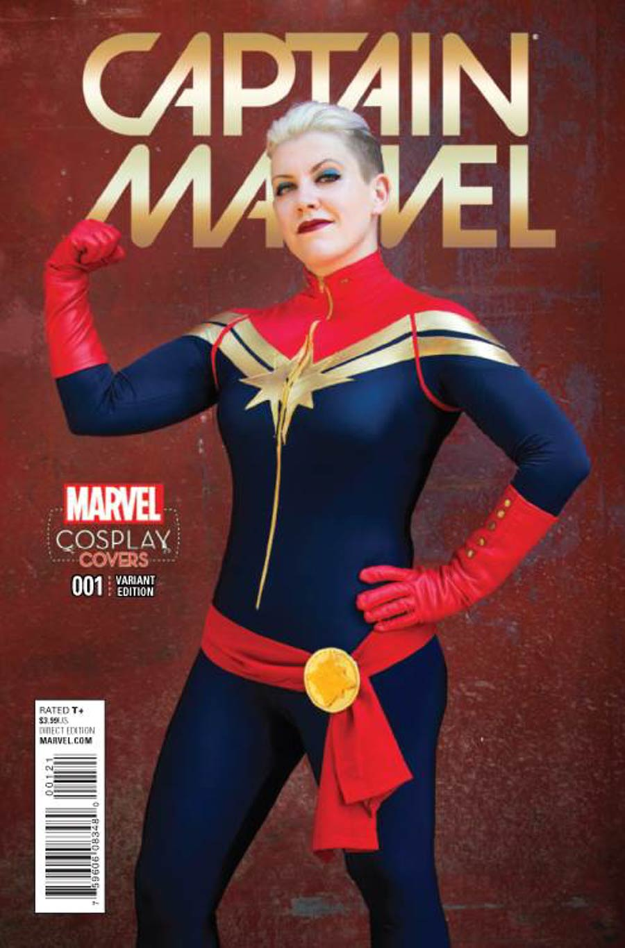 Captain Marvel Vol 8 #1 Cover E Incentive Cosplay Variant Cover