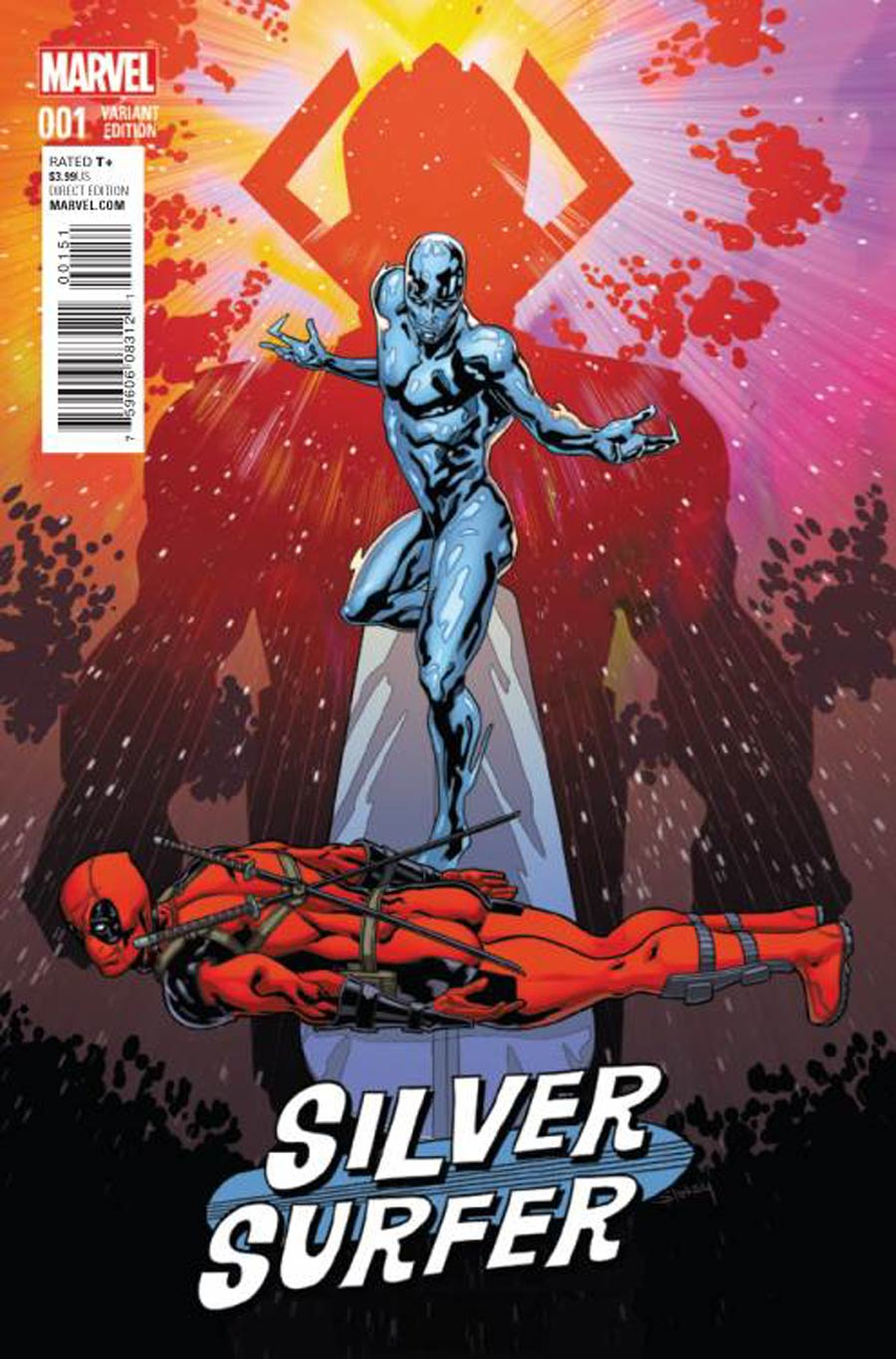 Silver Surfer Vol 7 #1 Cover D Incentive Wil Sliney Deadpool Variant Cover