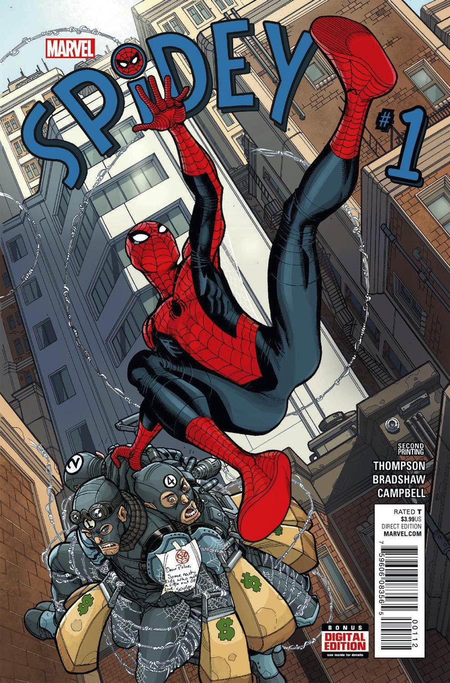Spidey #1 Cover F 2nd Ptg Nick Bradshaw Variant Cover