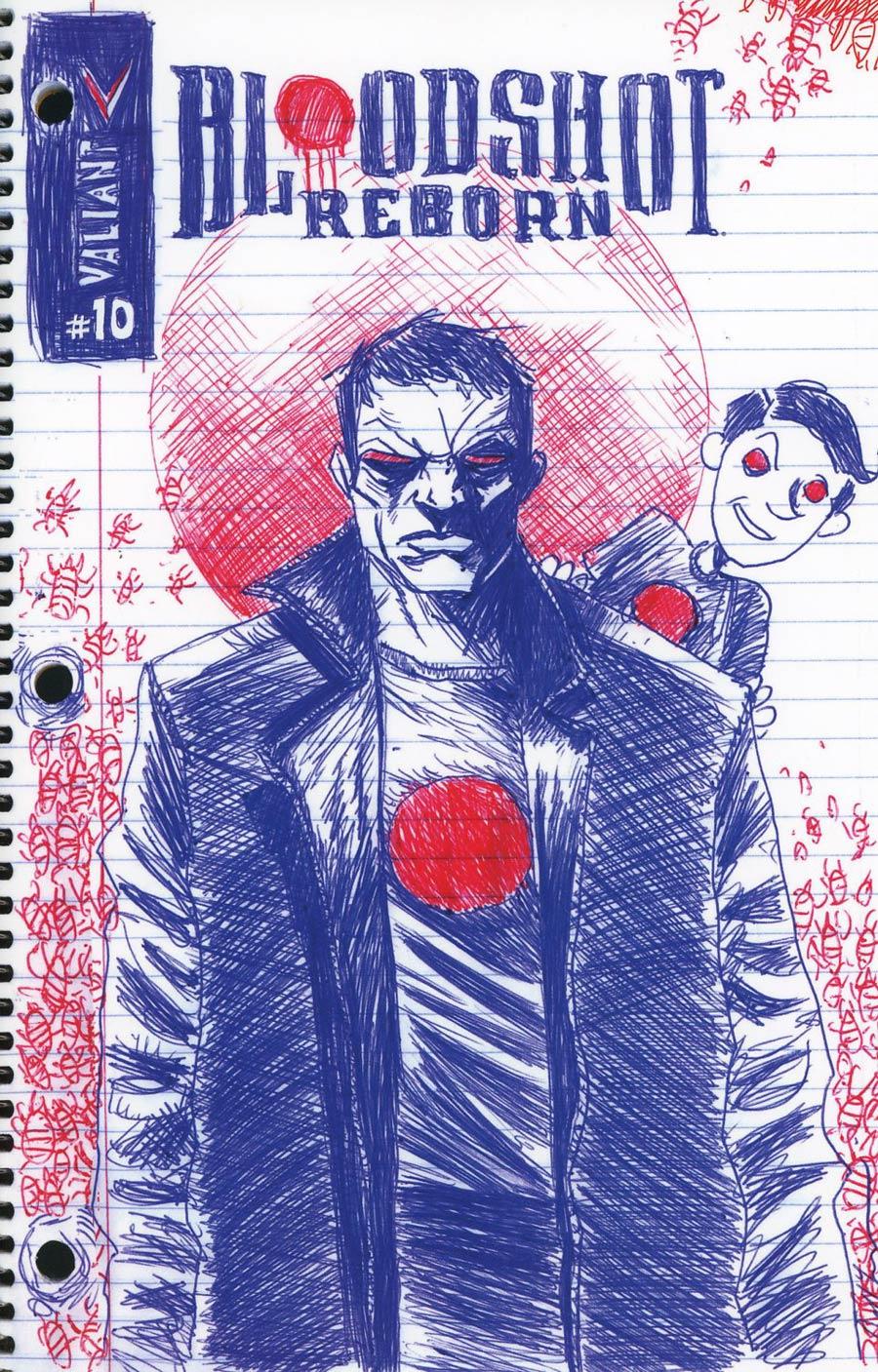 Bloodshot Reborn #10 Cover H Incentive Jeff Lemire Valiant Linewide Variant Cover