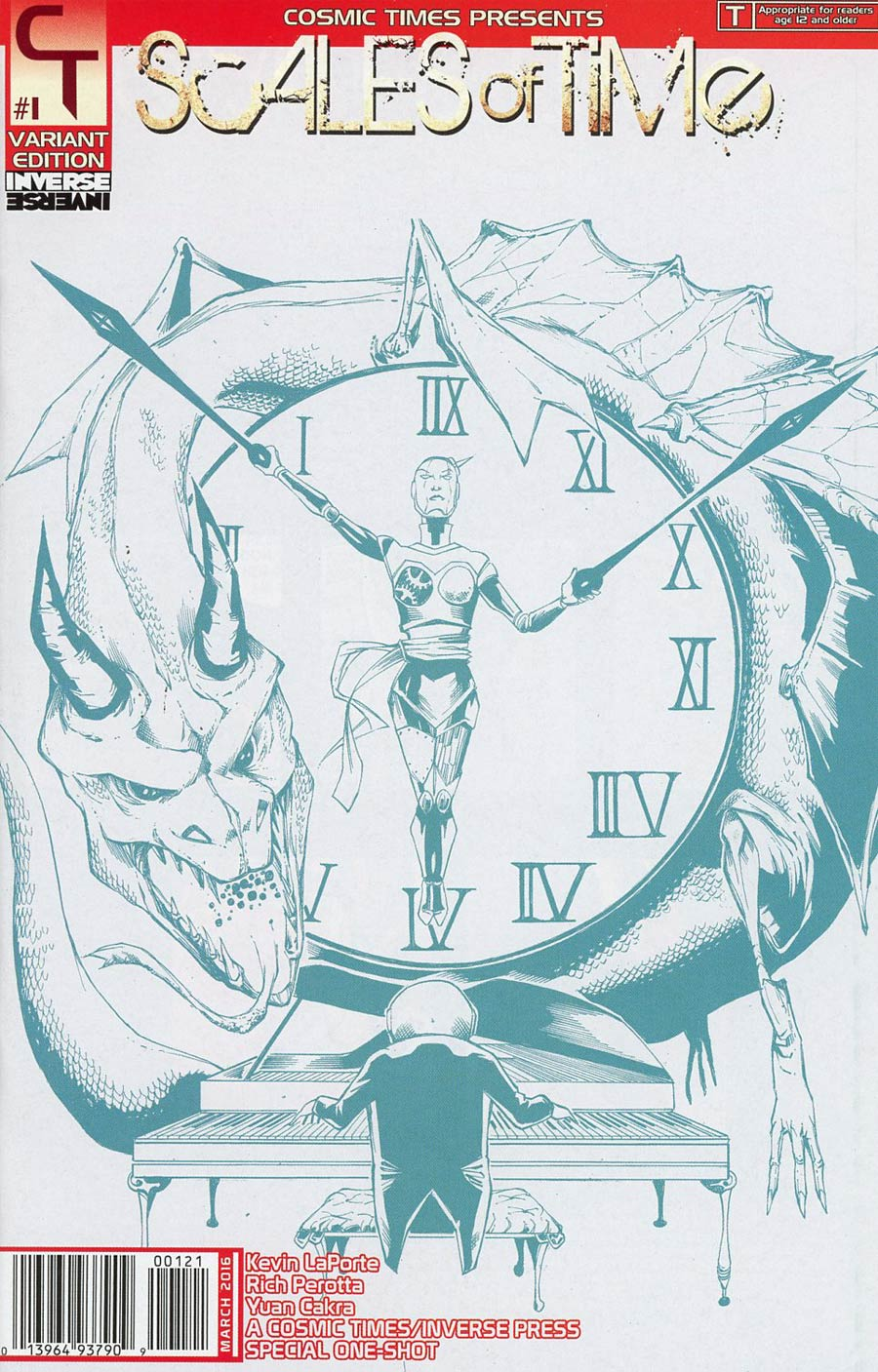Scales Of Time One Shot Cover B Incentive Blue Line Variant Cover