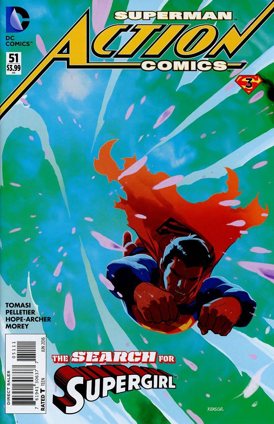 Action Comics Vol 2 #51 Cover A 1st Ptg Regular Karl Kerschl Cover (Super League Part 3)