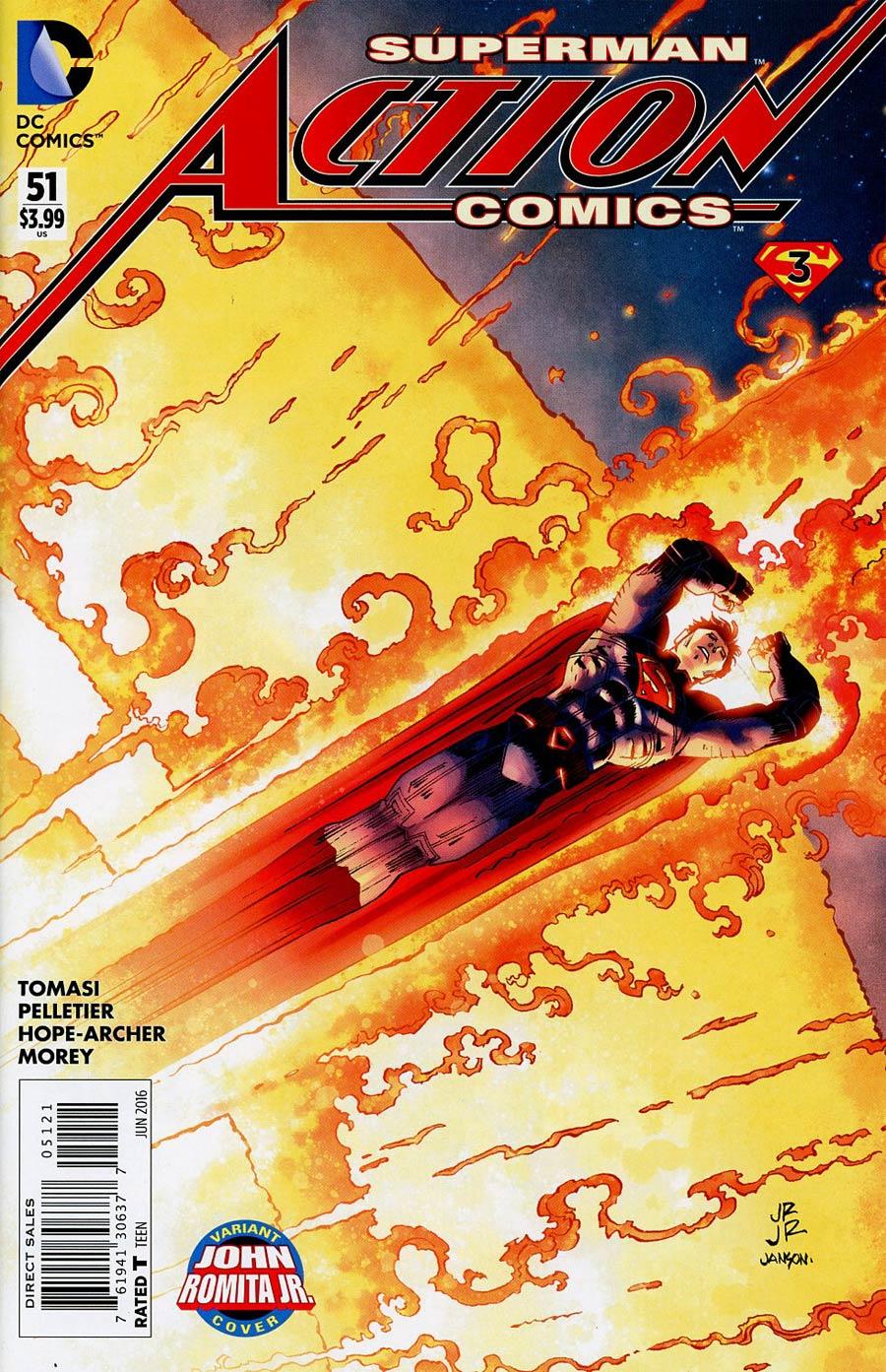 Action Comics Vol 2 #51 Cover B Variant John Romita Jr Cover (Super League Part 3)